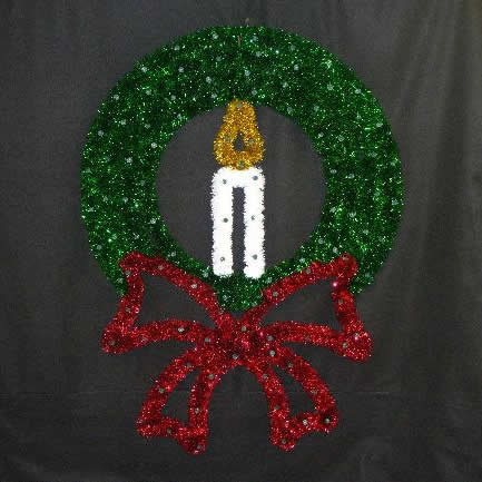 Wreath with Candle 4-Foot
